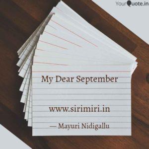 September-Sirimiri